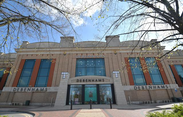 General view of the Debenhams store at The Trafford Centre on April 12, 2019 in Manchester, England. (Anthony Devlin/Getty Images)