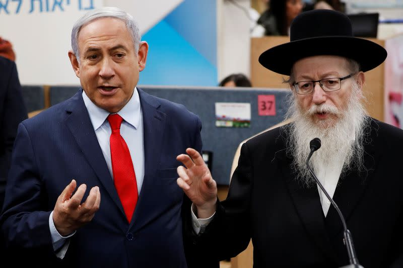 Coronavirus scare in Israeli mall becomes election football