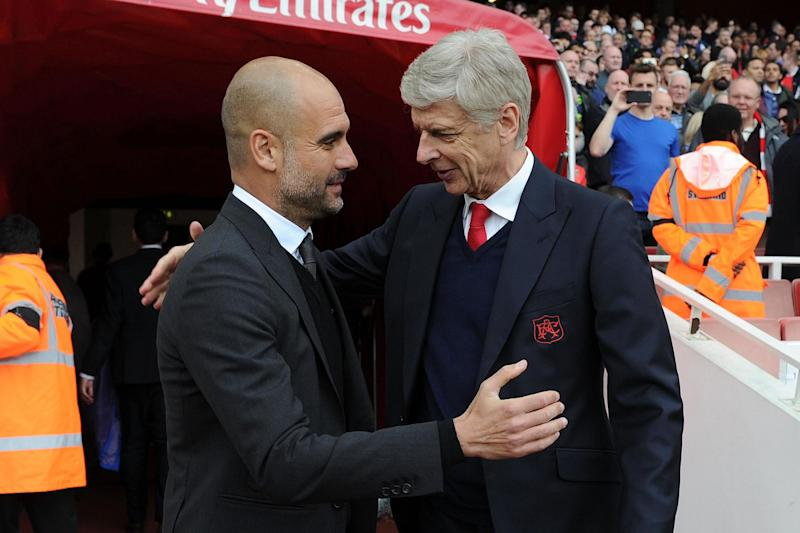 Deal or no deal? Wenger and Guardiola met spoke during City manager's playing days: Arsenal FC via Getty Images