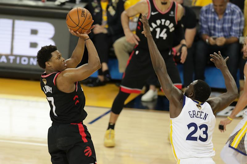 Kyle Lowry rises up for a shot during the NBA Finals. (Sergio Estrada-USA TODAY Sports)