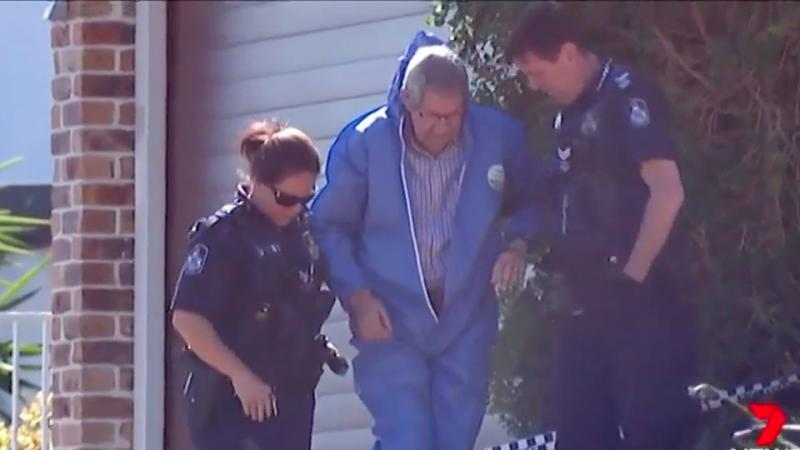 The 68-year-old man was escorted away from his Stafford Heights home by police. Source: 7 News