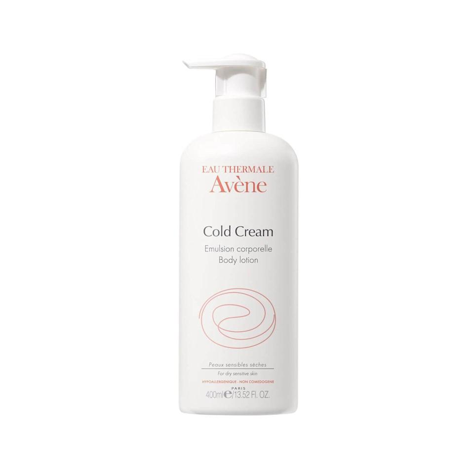 <p>Again, the <span>Eau Thermale Avène Cold Cream Body Lotion</span> ($20) is another great option for people with dry and sensitive skin thanks to the thermal spring water and natural oils in the formula. The lotion is surprisingly nonsticky and fast-absorbing, and while it has a very faint scent, it's both noncomedogenic and hypoallergenic.</p>
