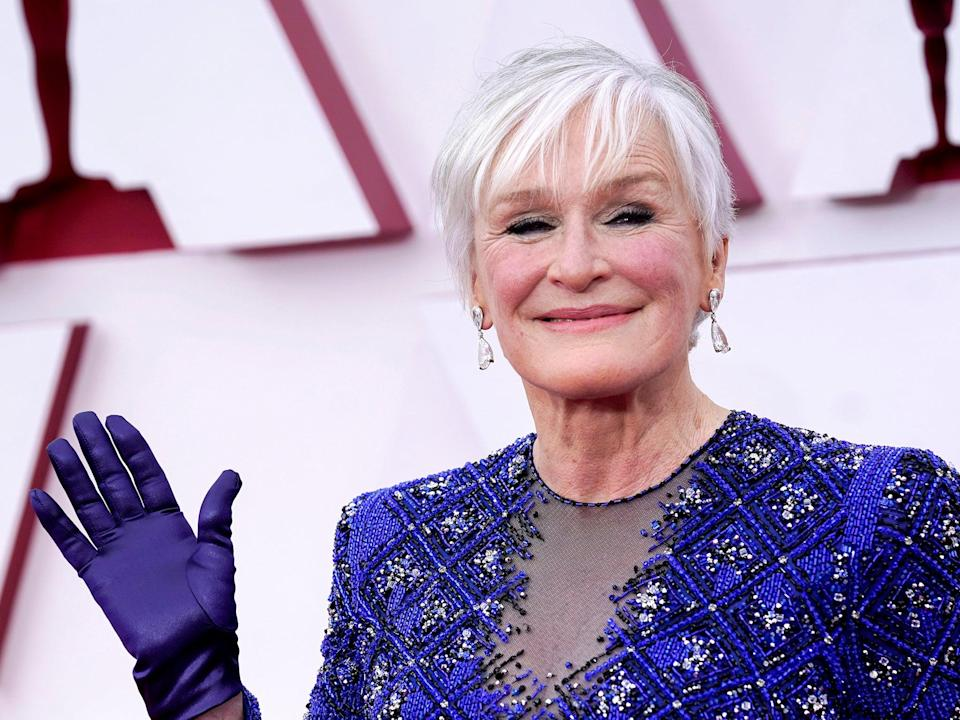 Glenn Close on the Oscars red carpet (Chris Pizzelo-Pool/Getty Images)