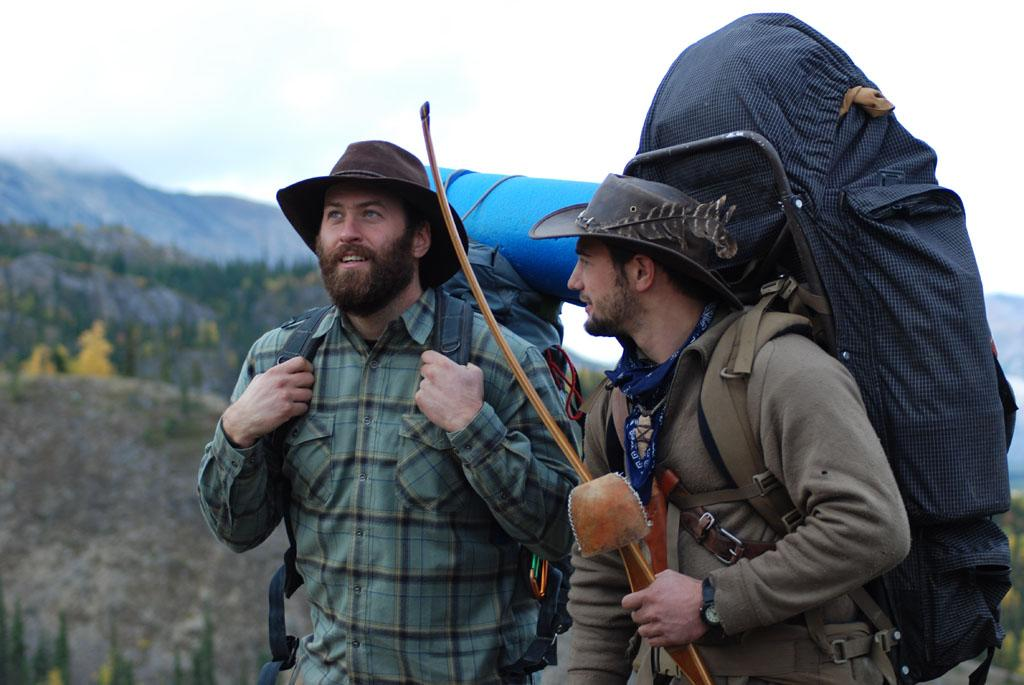 Arrigetch Peaks, Alaska, USA: Matt Raney & Austin Manelick talking.