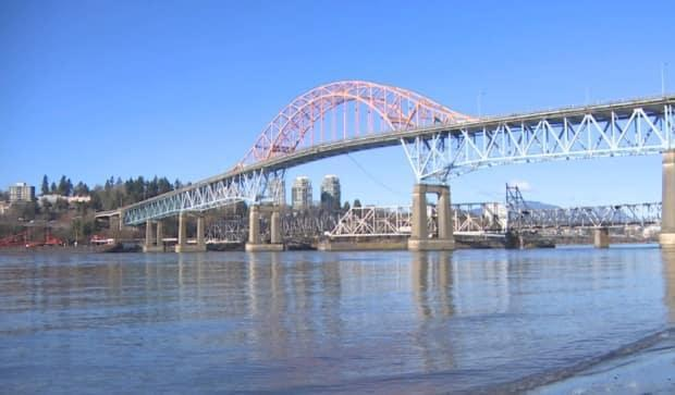 There were more than 62,000 crossings on the Pattullo Bridge in March 2021.