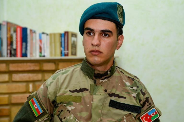 Azerbaijani Asif Maharramov, 20, is among thousands of veterans on both sides suffering from post-traumatic stress disorder (AFP/Tofik BABAYEV)