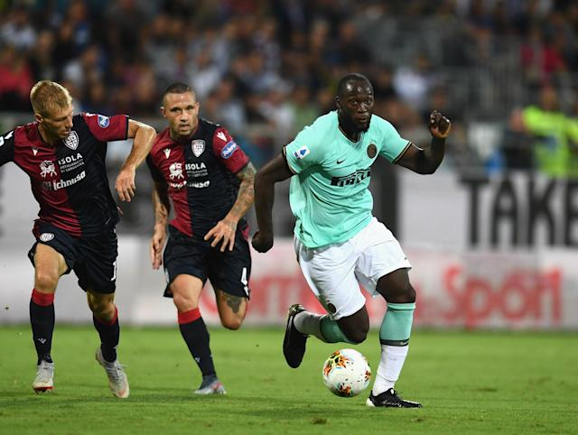 The Curva Nord, a dedicated Inter Milan fan group, insisted in an open letter that the racist abuse striker Romelu Lukaku was subject to on Sunday wasn't actually racist. (Claudio Villa/Getty Images)