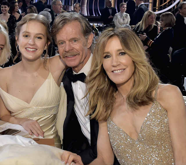 Sophia Macy, with her parents William H. Macy and Felicity Huffman, has been cast in the second season of <em>Twilight Zone</em>. (Photo: Getty Images)