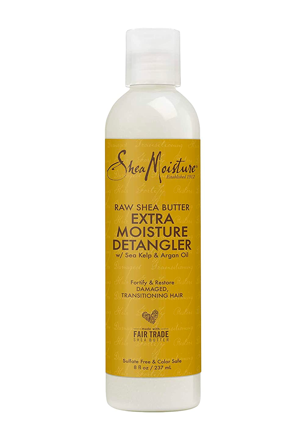 """<p><strong>SHEA MOISTURE</strong></p><p>amazon.com</p><p><strong>$10.49</strong></p><p><a href=""""https://www.amazon.com/dp/B07NQLWYZJ?tag=syn-yahoo-20&ascsubtag=%5Bartid%7C10049.g.36027428%5Bsrc%7Cyahoo-us"""" rel=""""nofollow noopener"""" target=""""_blank"""" data-ylk=""""slk:Shop Now"""" class=""""link rapid-noclick-resp"""">Shop Now</a></p><p>If you're on the hunt for an affordable detangler, you'll love this drugstore option from SheaMoisture. The hero ingredient is rich and creamy shea butter, which <strong>gives your hair plenty of slip and shine for easy detangling</strong> (yes, <em>even</em> if you're working with <a href=""""https://www.cosmopolitan.com/style-beauty/beauty/g20874938/best-shampoo-dry-damaged-hair/"""" rel=""""nofollow noopener"""" target=""""_blank"""" data-ylk=""""slk:damaged"""" class=""""link rapid-noclick-resp"""">damaged</a> or dry curls). Comb it through your damp hair before or after cleansing and you'll get the hype.</p>"""