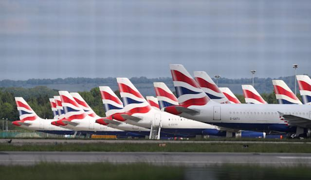 British Airways planes parked at Gatwick Airport in Sussex. Photo: Gareth Fuller/PA Wire/PA Images
