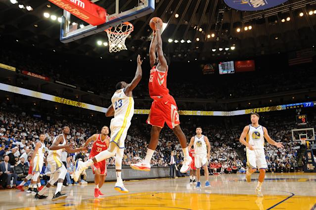 The Rockets need Clint Capela to rise above to be able to topple the defending champs. (Getty)