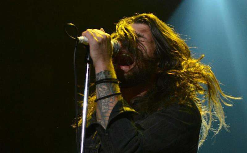 Adam Lazzara: part biker gang extra, part Russell Brand wannabe: Getty