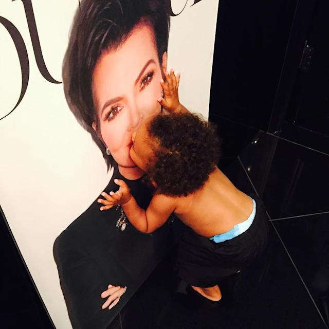"<p>""How cute is my little grandson when he sees my @dujourmedia cover?!"" Jenner asked abut her ""<a href=""https://www.instagram.com/p/BVhwLfylGX6/"" rel=""nofollow noopener"" target=""_blank"" data-ylk=""slk:little love bug"" class=""link rapid-noclick-resp"">little love bug</a>,"" Saint. The 1-and-a-half-year-old is the son of daughter Kim Kardashian and Kanye West. <em>Too</em> cute, said everyone. (Photo: Kris Jenner via Instagram) </p>"