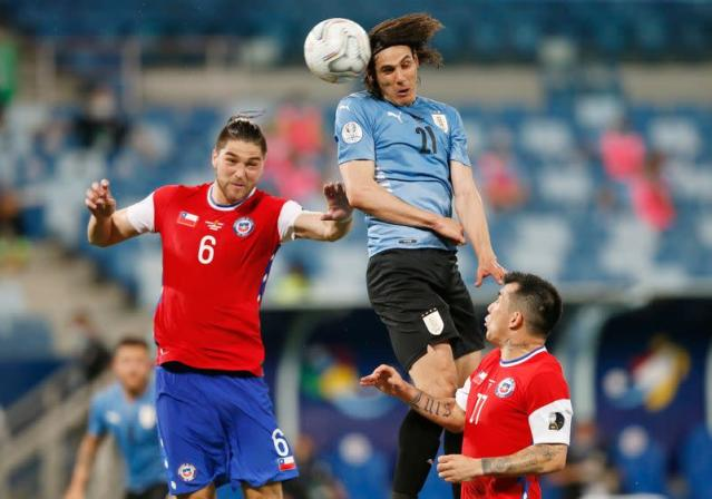 Soccer-Vidal own goal breaks Uruguay drought in 1-1 draw with Chile