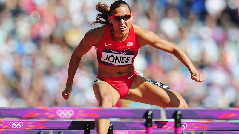 Lolo Jones, pictured here competing for USA at the 2012 Olympics.
