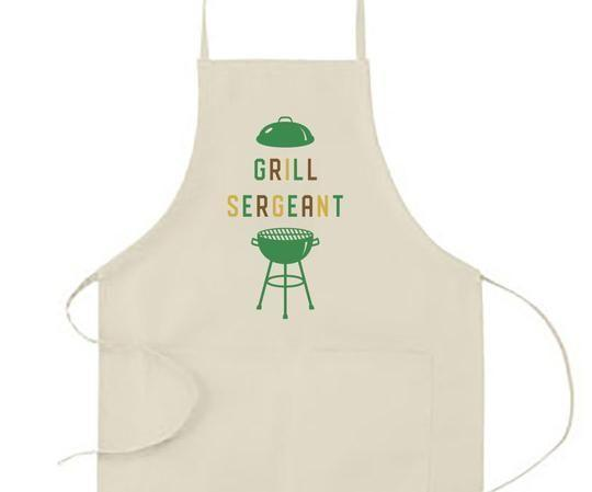 """<p>countryliving.com</p><p><strong>$28.00</strong></p><p><a href=""""https://store.countryliving.com/collections/summer-collection/products/grill-sergeant-apron"""" rel=""""nofollow noopener"""" target=""""_blank"""" data-ylk=""""slk:Shop Now"""" class=""""link rapid-noclick-resp"""">Shop Now</a></p><p>Help him fire up the grill in style (and keep his shirt clean!) with this fun apron.</p>"""