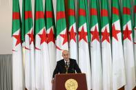 FILE PHOTO: Newly elected Algerian President Abdelmadjid Tebboune delivers a speech during a swearing-in ceremony in Algiers