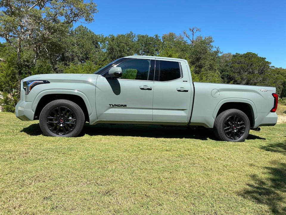 The 2022 Toyota Tundra Double Cab has a smaller rear seat than the Crewmax crew cab.