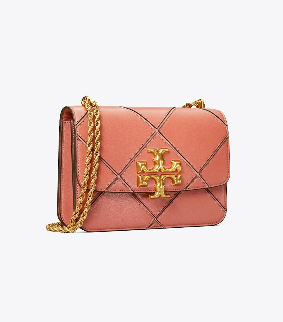 <p>I love the patchwork of this <span>Tory Burch Eleanor Bag</span> ($798). You can wear it long as a crossbody or doubled up as a shoulder bag.</p>