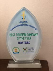 Zara Tours was honored as 2021's Best Tourism Company at the Tanzania Women Chamber of Commerce. Founded in 1986 by Mrs. Zainab Ansell, Zara Tours is the Northern Tanzania's largest safari operator.