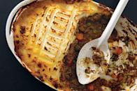 """Read why <a href=""""http://www.epicurious.com/holidays-events/turn-leftover-turkey-into-shepherds-pie-article?mbid=synd_yahoo_rss"""" rel=""""nofollow noopener"""" target=""""_blank"""" data-ylk=""""slk:we think"""" class=""""link rapid-noclick-resp"""">we think</a> shepherd's pie is one of the best things you can do with your Thanksgiving leftovers. For pure <a href=""""https://www.epicurious.com/recipes-menus/best-comfort-food-recipes-gallery?mbid=synd_yahoo_rss"""" rel=""""nofollow noopener"""" target=""""_blank"""" data-ylk=""""slk:comfort food"""" class=""""link rapid-noclick-resp"""">comfort food</a>, simply use shredded leftover turkey in place of the lamb in this recipe. <a href=""""https://www.epicurious.com/recipes/food/views/shepherds-pie-240224?mbid=synd_yahoo_rss"""" rel=""""nofollow noopener"""" target=""""_blank"""" data-ylk=""""slk:See recipe."""" class=""""link rapid-noclick-resp"""">See recipe.</a>"""