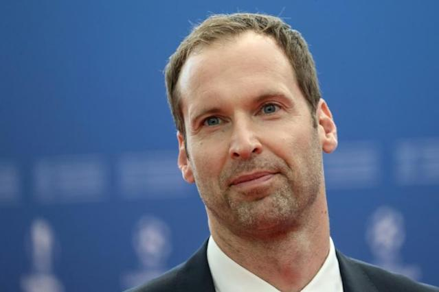 Ice cool: Petr Cech has signed to play for an ice hockey club (AFP Photo/Valery HACHE)
