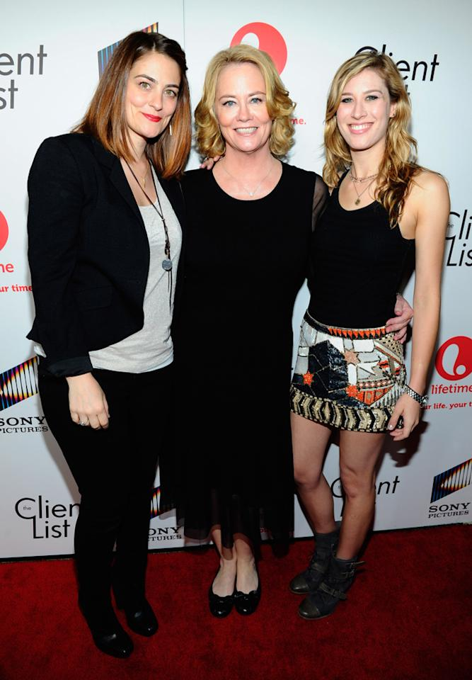"Cybill Shepherd and her daughters attend the launch party for Lifetime's ""<a href=""http://tv.yahoo.com/client-list/show/47678"">The Client List</a>"" at Sunset Tower on April 4, 2012 in West Hollywood, California."
