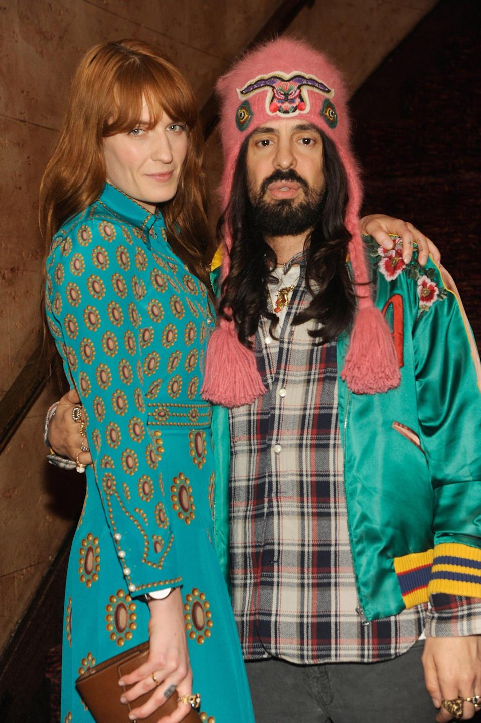 <p>Alessandro showed up to support Welch at Florence and the Machine's Odyssey Screening in New York City in 2016.</p>