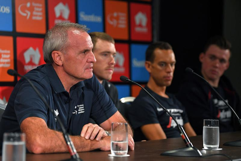 Tour Down Under race director Mike Turtur speaks at the 2020 pre-race press conference – his last before he steps aside for the incoming Stuart O'Grady