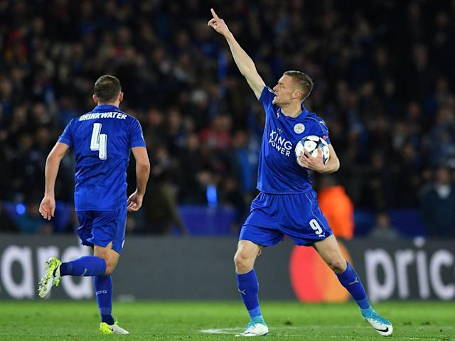 Jamie Vardy's strike gave Leicester faint hope of a comeback (Getty)
