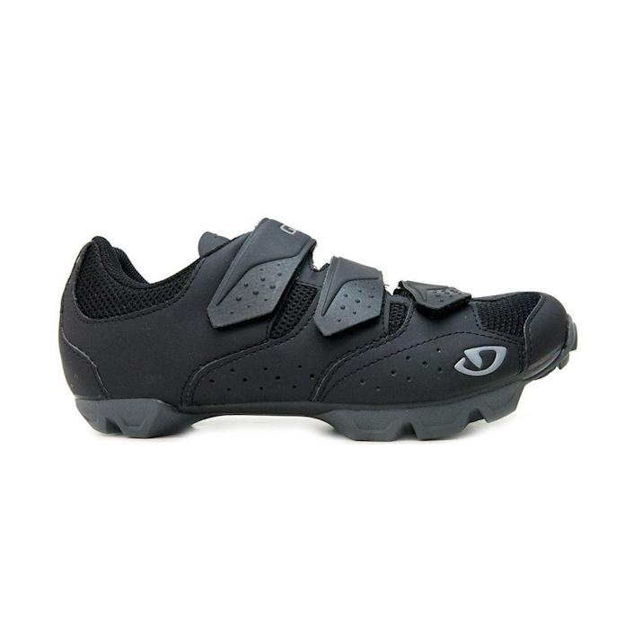 """<p><strong>Giro</strong></p><p>giro.com</p><p><strong>$100.00</strong></p><p><a href=""""https://www.giro.com/p/carbide-r-ii-mountain-bike-shoes/350060000200000066.html"""" rel=""""nofollow noopener"""" target=""""_blank"""" data-ylk=""""slk:Shop Now"""" class=""""link rapid-noclick-resp"""">Shop Now</a></p><p>This is a sturdy pick, made with mountain terrain in mind but great for indoor use as well. The chunky outsole makes for a solid foundation if you anticipate walking around before and after a class—or chasing after little ones mid-ride. </p>"""