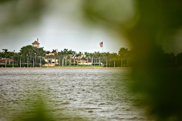 A view of Mar-a-Lago and the Intracoastal Waterway from the West Palm Beach side.