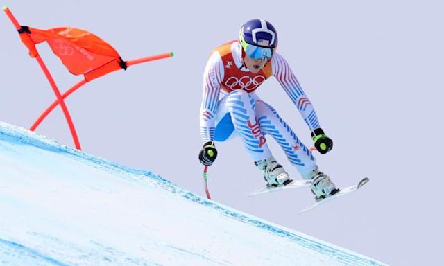 "<span class=""element-image__caption"">Lindsey Vonn gave everything on what looks likely to be her final downhill Olympic run.</span> <span class=""element-image__credit"">Photograph: Alexander Hassenstein/Getty Images</span>"