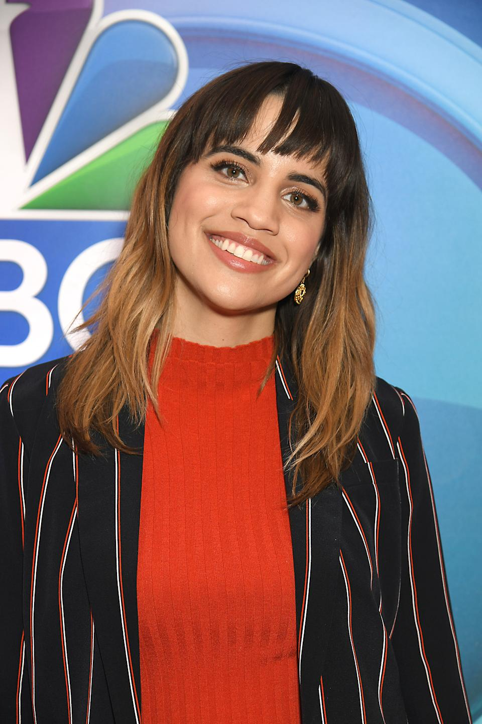 Natalie Morales attends NBC�s Mid-Season Press Day 2019 Red Carpet on January 24th, 2019 at The Four Seasons Hotel in New York, New York, USA. Robin Platzer/ Twin Images/ SIPA USA