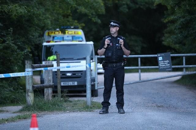 Police at Havant Thicket