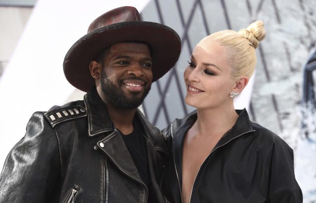Lindsey Vonn presented P.K. Subban with an engagement ring. (Photo by Jordan Strauss/Invision/AP)