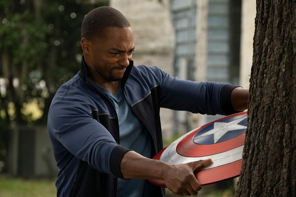 """Schon in der Serie """"The Falcon And The Winter Soldier"""" schlüpfte Anthony Mackie in die Rolle des neuen Captain America. (Bild: Photo by Chuck Zlotnick / ©Marvel Studios 2020. All Rights Reserved.)"""