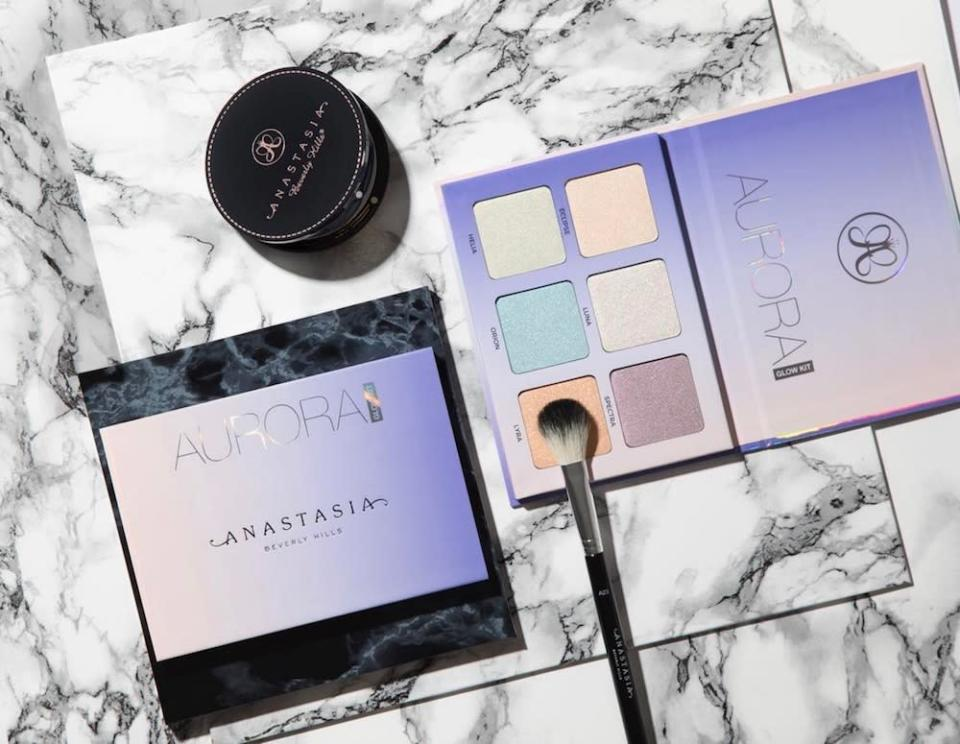 Here is what Anastasia Beverly Hills' Aurora Glow Kit looks like with a full face of makeup