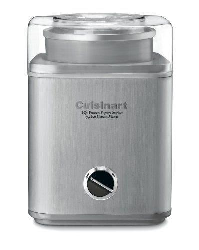 """<p><strong>Cuisinart</strong></p><p>amazon.com</p><p><strong>$99.95</strong></p><p><a href=""""https://www.amazon.com/dp/B0006ONQOC?tag=syn-yahoo-20&ascsubtag=%5Bartid%7C2140.g.33628308%5Bsrc%7Cyahoo-us"""" rel=""""nofollow noopener"""" target=""""_blank"""" data-ylk=""""slk:Shop Now"""" class=""""link rapid-noclick-resp"""">Shop Now</a></p><p>This is probably the most fun appliance you can add to any dessert lover's kitchen. Frozen yogurt, sorbet, and ice cream on demand? This is the sure way to a sweet tooth's heart. </p>"""