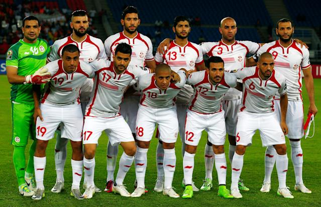 FILE PHOTO: Tunisia national soccer team players pose for a photograph before the start of their Group B soccer match against the Democratic Republic of Congo in the African Cup of Nations in Bata January 26, 2015. REUTERS/Amr Abdallah Dalsh/File Photo