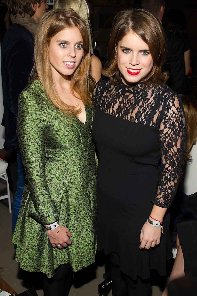Princess Beatrice and Princess Eugenie attend the 8th annual charity: ball Gala at the Duggal Greenhouse on December 16, 2013 in New York City. Photo by Michael Stewart/WireImage.