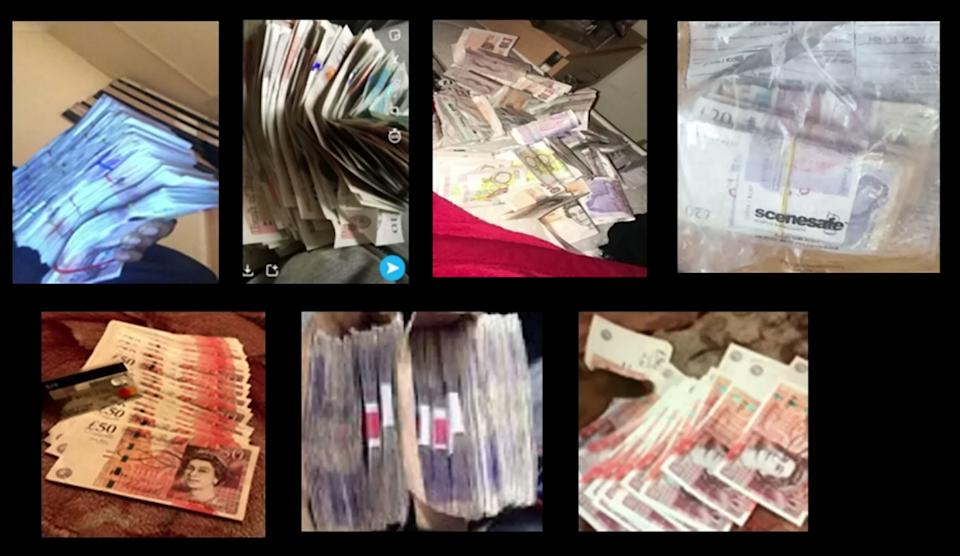 Police recovered money. (SWNS)