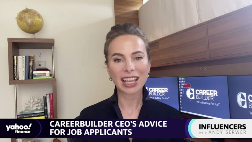 "CareerBuilder CEO Irina Novoselsky speaks with Yahoo Finance Editor-in-Chief Andy Serwer on an episode of ""Influencers with Andy Serwer."""