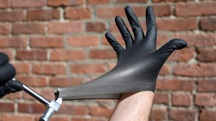 You can still find disposable gloves at certain retailers.