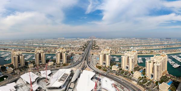 View of Palm Jumeirah from Palm Tower