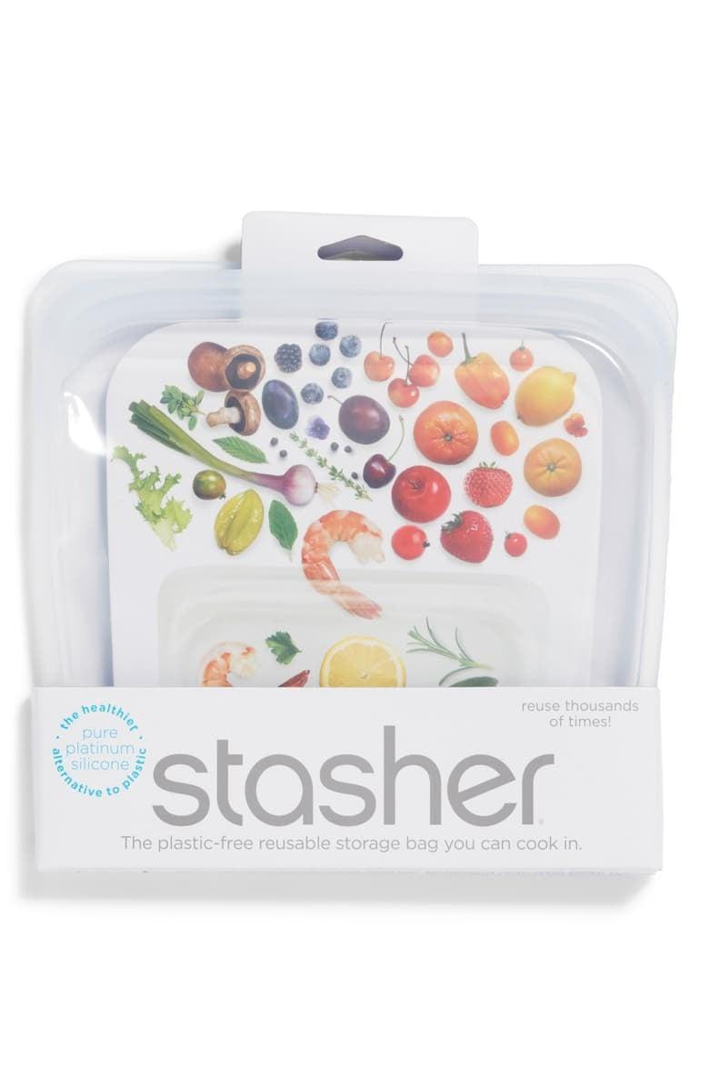 <p>Help them cut out plastic in 2021 with this <span>Stasher Sandwich Reusable Silicone Storage Bag</span> ($12).</p>