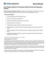 Inter Pipeline Reports Third Quarter 2020 Financial and Operating Results (CNW Group/Inter Pipeline Ltd.)