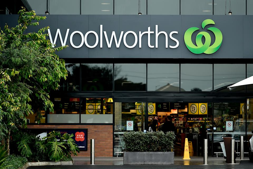 A Woolworths storefront.