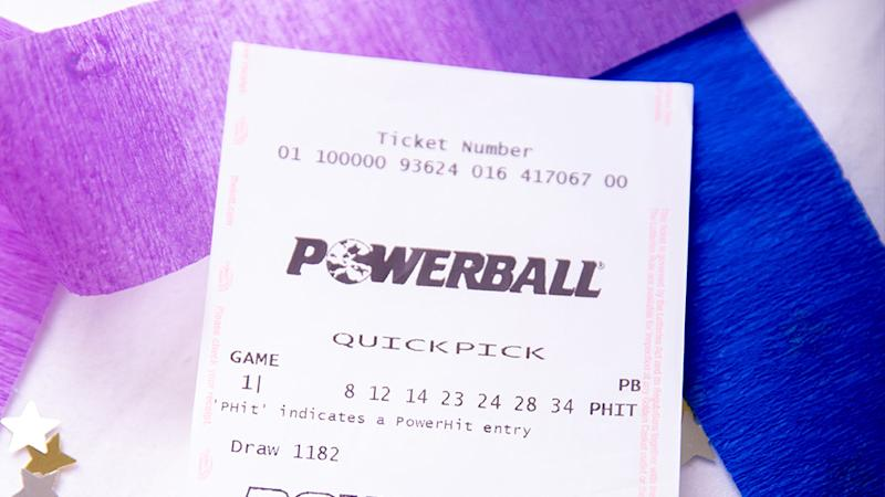 A stock image of a Powerball ticket. A Brisbane mother has scooped the entire $40 million prize.