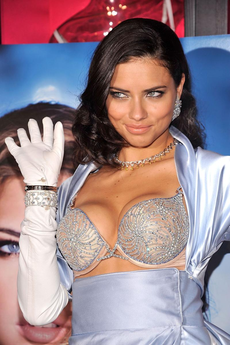 Adriana Lima reveals the $2 million bombshell fantasy bra designed by Damiani exclusively for Victoria's Secret at Victoria's Secret on Oct. 20, 2010 in New York City.